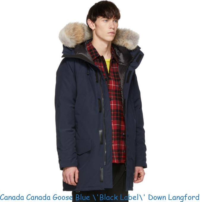 Canada Canada Goose Blue \'Black Label\' Down Langford