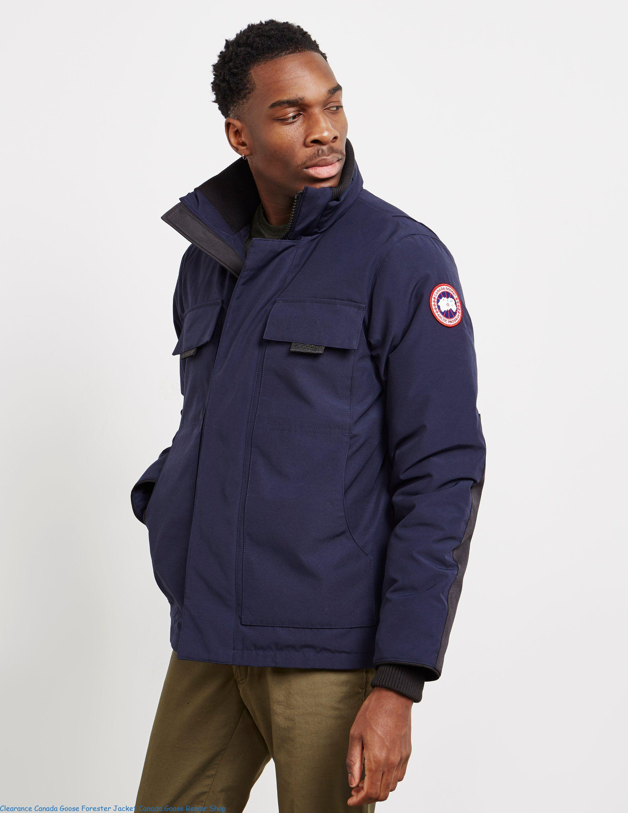 pretty nice ef454 f2770 Clearance Canada Goose Forester Jacket Canada Goose Repair Shop